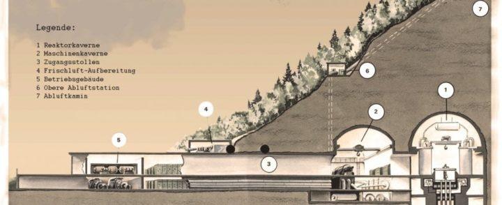 Sezione della centrale nucleare sperimentale di Lucens (Svizzera)