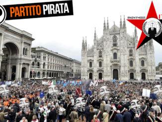 In piazza a Milano contro la Legge sul Copyright Europea