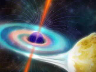 Getti di plasma di materia ed antimateria fuoriescono dai buchi neri