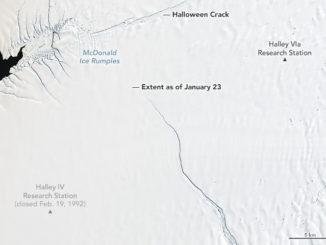 Un gigantesco ghiacciaio si sta staccando dall'Antartide