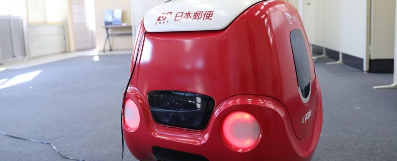 Il robot fattorino per il food delivery consegna in Giappone