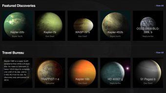 Clicca sull'immagine e parti per un viaggio virtuale alla scoperta del tuo mondo alieno preferito. Crediti: Nasa