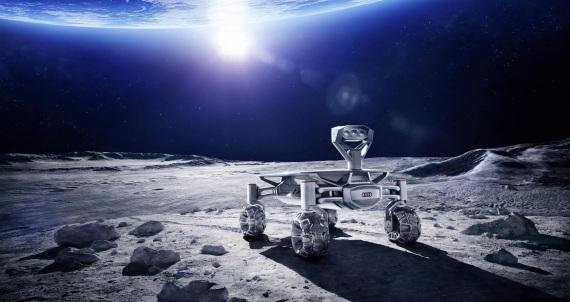 Illustrazione: un'Audi sulla Luna. | PTScientist
