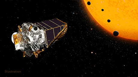 Illustrazione del telescopio spaziale Kepler della NASA (Credit: NASA/JPL-Caltech)
