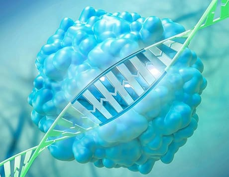 CRISPR-Cas9 gene editing, illustration