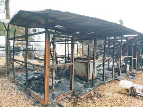 l 24 e il 27 febbraio a Katwa e a Butembo sono stati dati alle fiamme i centri di MSF per la cura di Ebola. (Cortesia WHO)