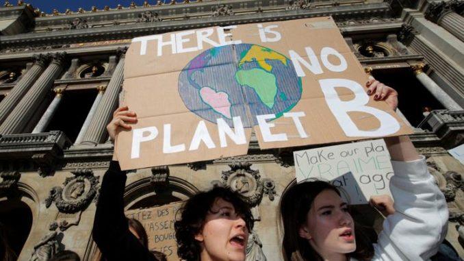 Protesta studentesca sui cambiamenti climatici