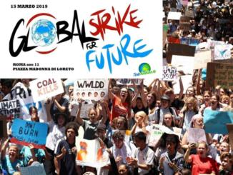 Sciopero in piazza per il riscaldamento globale ed i cambiamenti climatici