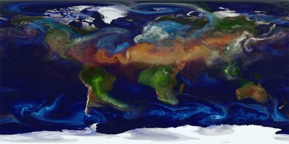 Le mappe dinamiche dell'atmosfera della Terra: le simulazioni realizzate dalla Nasa sui dati dei satelliti in orbita. | Nasa