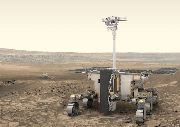 Il rover di ExoMars ' Rosalind Franklin' (fonte: ESA/ATG medialab) © ANSA/Ansa