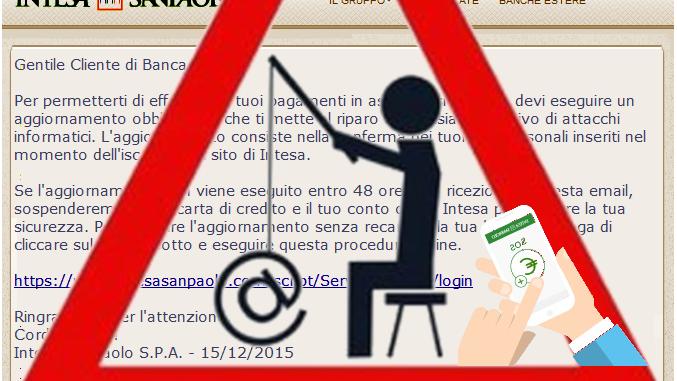 Pishing, attacco hackers a banca Intesa SanPaolo