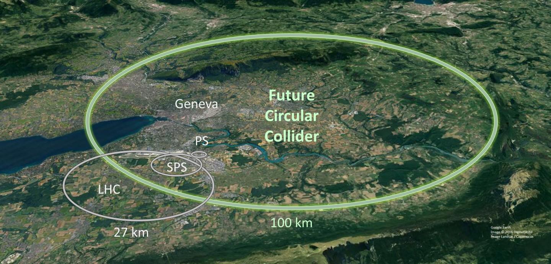 In costruzione LHC di 100 km. per spaccare il bosone di Higgs