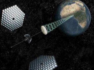 Progetto della Cina di creare una fattoria solare orbitante