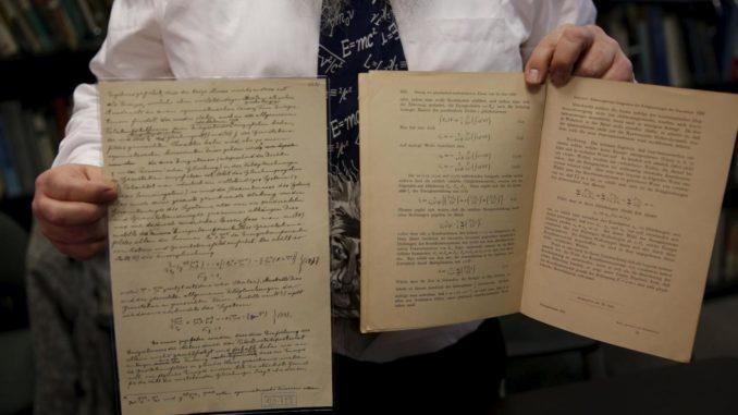 Ritrovati appunti di Einstein mai pubblicati in precedenza