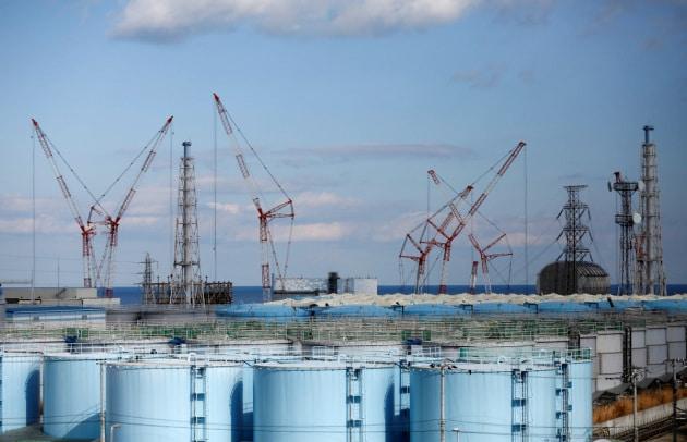 I serbatoi di stoccaggio dell'acqua contaminata presso la centrale di Fukushima Daiichi, in Giappone.|REUTERS/Issei Kato