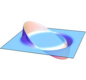 foto di un campo di curvatura secondo l'unità Alcubierre