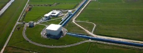 Veduta aerea di Virgo (Cortesia Virgo Collaboration)