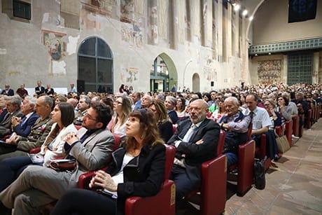 Il pubblico in sala dello scorso anno (Cortesia Festa di Scienza e di Filosofia – Virtute e Canoscenza)