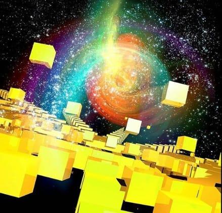 Quantum physics, conceptual computer artwork.