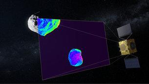 Imaging a infrarossi del cratere da impatto
