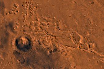 La Aeolis region di Marte. Crediti: Nasa/Jpl/Usgs