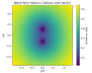 Immagine tratta da una simulazione prodotta con BlackHoles@Home