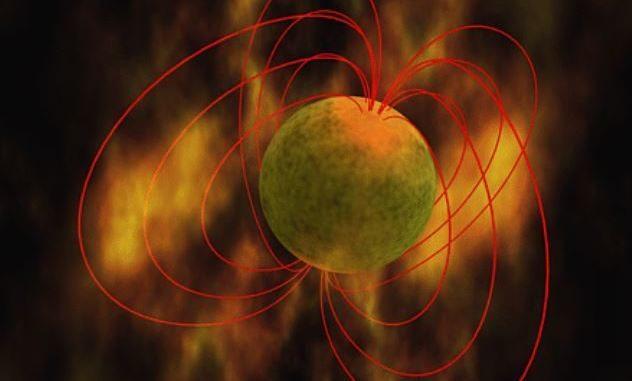 Le magnetar sono caratterizzate da un fortissimo campo magnetico (credito: PD, via Wikimedia Commons)