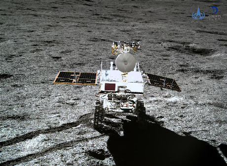 Chang'e-4 sulla superficie lunare (Xinhua/China National Space Administration)