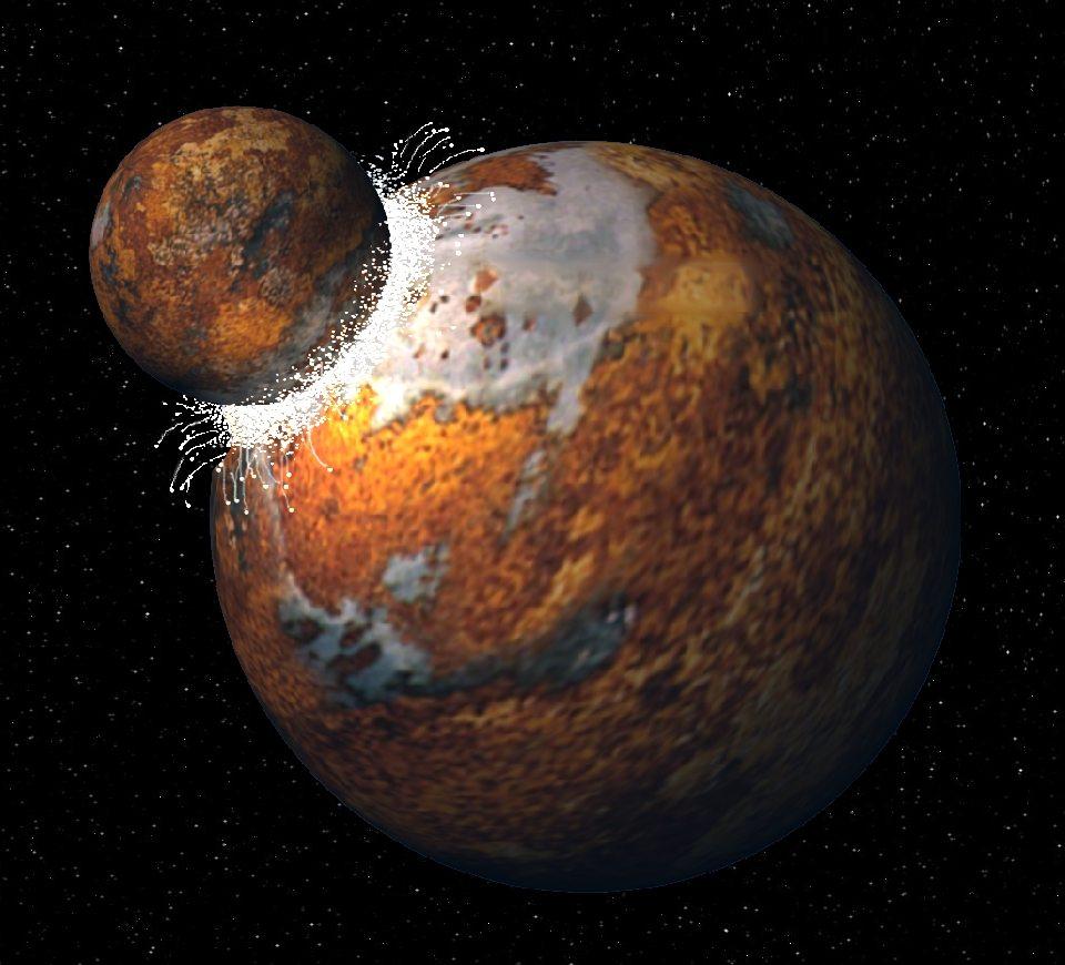 La Luna ha origine da una costola della Terra