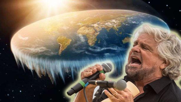 Grillo-parteciperà al congresso dei Terrapiattisti Cervelli che non scappano