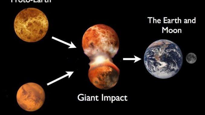 La Terra è stata resa abitabile dall'impatto di Theia