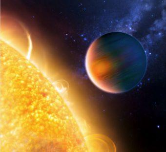 Rappresentazione artistica di un pianeta gassoso simile a Hd 102195b. Crediti: Esa, Nasa, G. Tinetti e M. Kornmesser