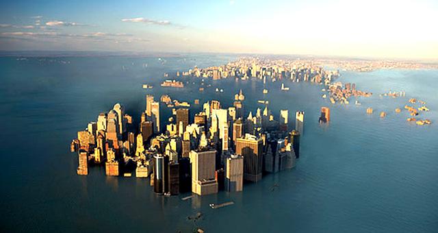 Le città sott'acqua entro il 2100 causa cambiamenti climatici