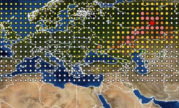 Autunno 2017: primi studi sulla possibile origine della nube radioattiva che si è diffusa sull'Europa.|IRSN