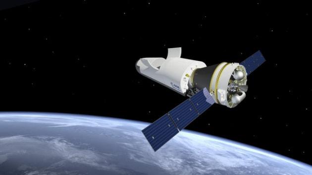 Un drone-shuttle-laboratorio per eseguire esperimenti nello spazio.|ESA