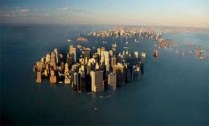 La nuova New York, sommersa: uno scenario futuribile e verosimile, conseguenza diretta del riscaldamento globale, con la fusione dei ghiacciai della Groenlandia e del Polo Sud e l'innalzamento del livello dei mari.