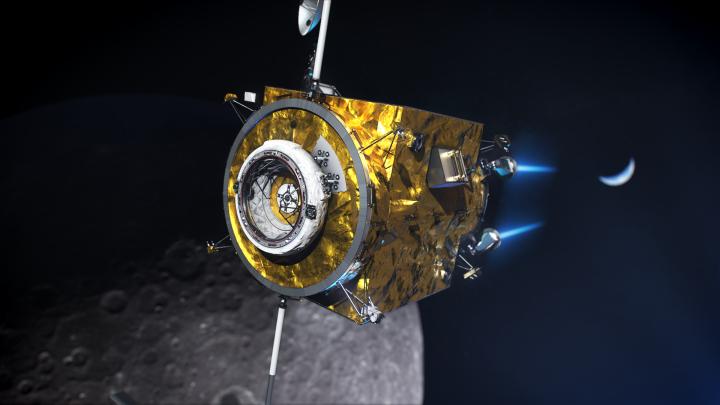 Il primo modulo del lunar gateway verrà inviato nel 2023, la costruzione proseguirà nell'orbita NRHO. Credit: NASA.