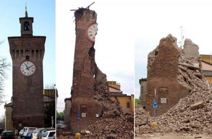 Le immagini significative del devastante terremoto che ha sconvolto l'Emilia Romagna, annunciato dalla Madonna di Anguera