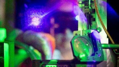 Dettaglio della linea laser coinvolta nello sviluppo del microtomografo 4D presso il laboratorio ILIL, Cnr-Ino, Pisa