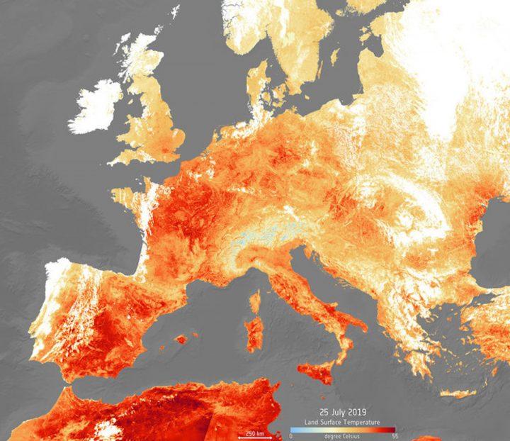 La terribile ondata di calore di luglio