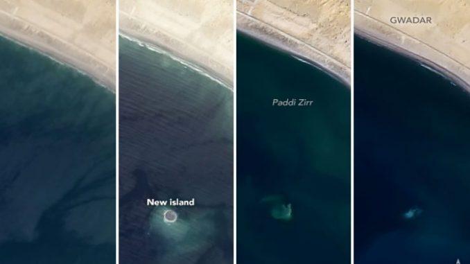 """Nasa, """"l'isola che non c'è"""" fotografata dai satelliti."""