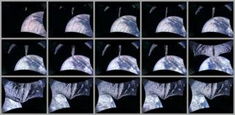 Sequenza di dispiegamento della vela solare ripresa dalla Camera 2 il 23 luglio scorso. Crediti: The Planetary Society