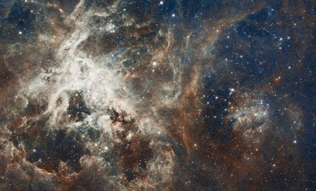 La Nebulosa Tarantula, una gigantesca regione di formazione stellare nella Grande Nube di Magellano.|HUBBLE, NASA, ESA.