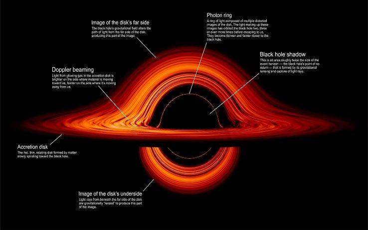 Come un buco nero deforma la forza gravitazionale