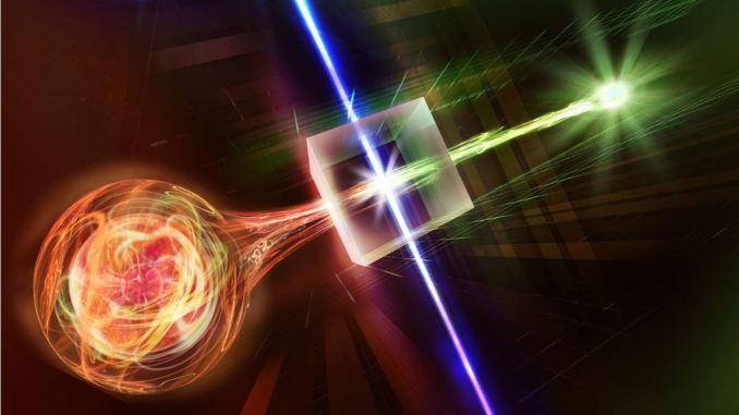 Fotone entangled percorre 50 km su fibra ottica, un passo avanti forse decisivo per la costruzione di una intranet quantistica su scala cittadina (credito: IQOQI Innsbruck/Harald Ritsch)