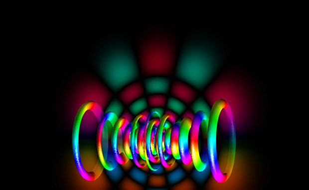Un atomo di idrogeno rappresentato alla luce della fisica quantistica (fonte: Berndthaller)