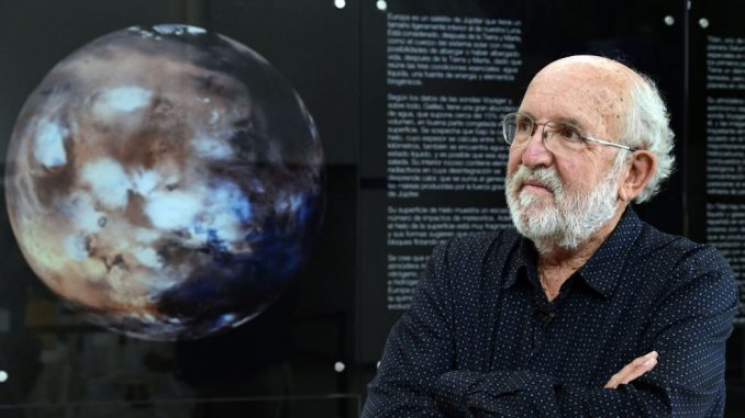 Swiss astrophysicist Michel Mayor, the Nobel Prize in Physics 2019 and co-discoverer of the first exoplanet, poses during an AFP interview at the Spanish Astrobiology Center in Torrejon de Ardoz on October 9, 2019. (Photo by JAVIER SORIANO / AFP) (Photo by JAVIER SORIANO/AFP via Getty Images)