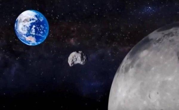 Domani un asteroide passerà fra la Terra e la Luna