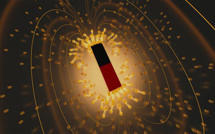 """Un team di ricercatori ha osservato un raro fenomeno chiamato superconduttività rientrante nel ditelluride dell'uranio materiale. Soprannominato """"superconduttività di Lazzaro"""", il fenomeno si verifica quando sorge uno stato superconduttore, si rompe, quindi riemerge in un materiale a causa di una modifica di un parametro specifico - in questo caso, l'applicazione di un campo magnetico molto forte. La scoperta promuove il caso della ditelluride di uranio come materiale promettente per l'uso nei computer quantistici. Credito: Emily Edwards / JQI"""