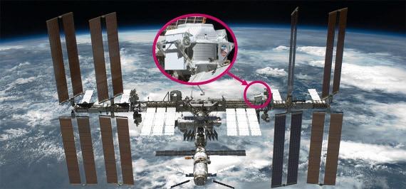 La posizione dell'AMS-2 all'esterno della ISS. Lo strumento non è stato progettato per riparazioni in orbita.| NASA